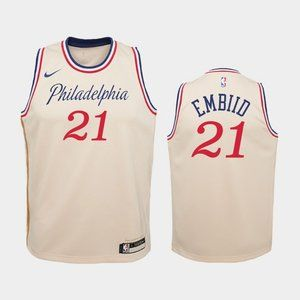 Women Philadelphia 76ers #21 Joel Embiid City Jers